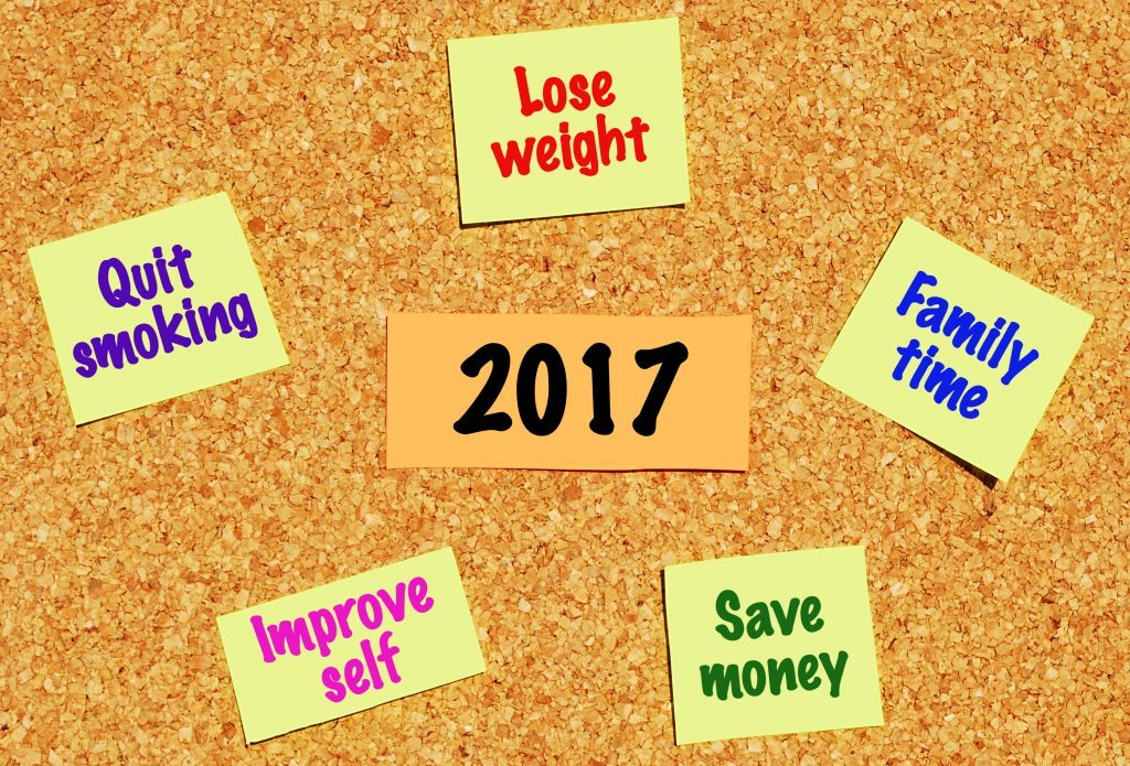 new year, new year resolutions, goals, 2017